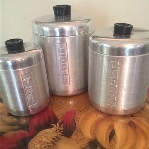 MCM spun aluminum canister set
